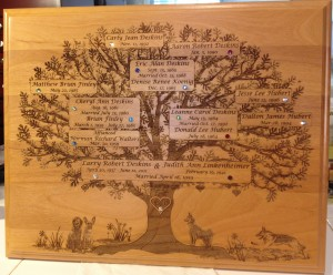 deskins family tree plaque