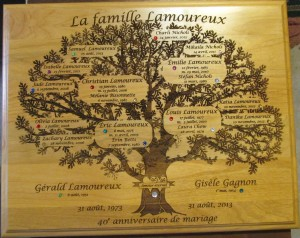 louis family plaque
