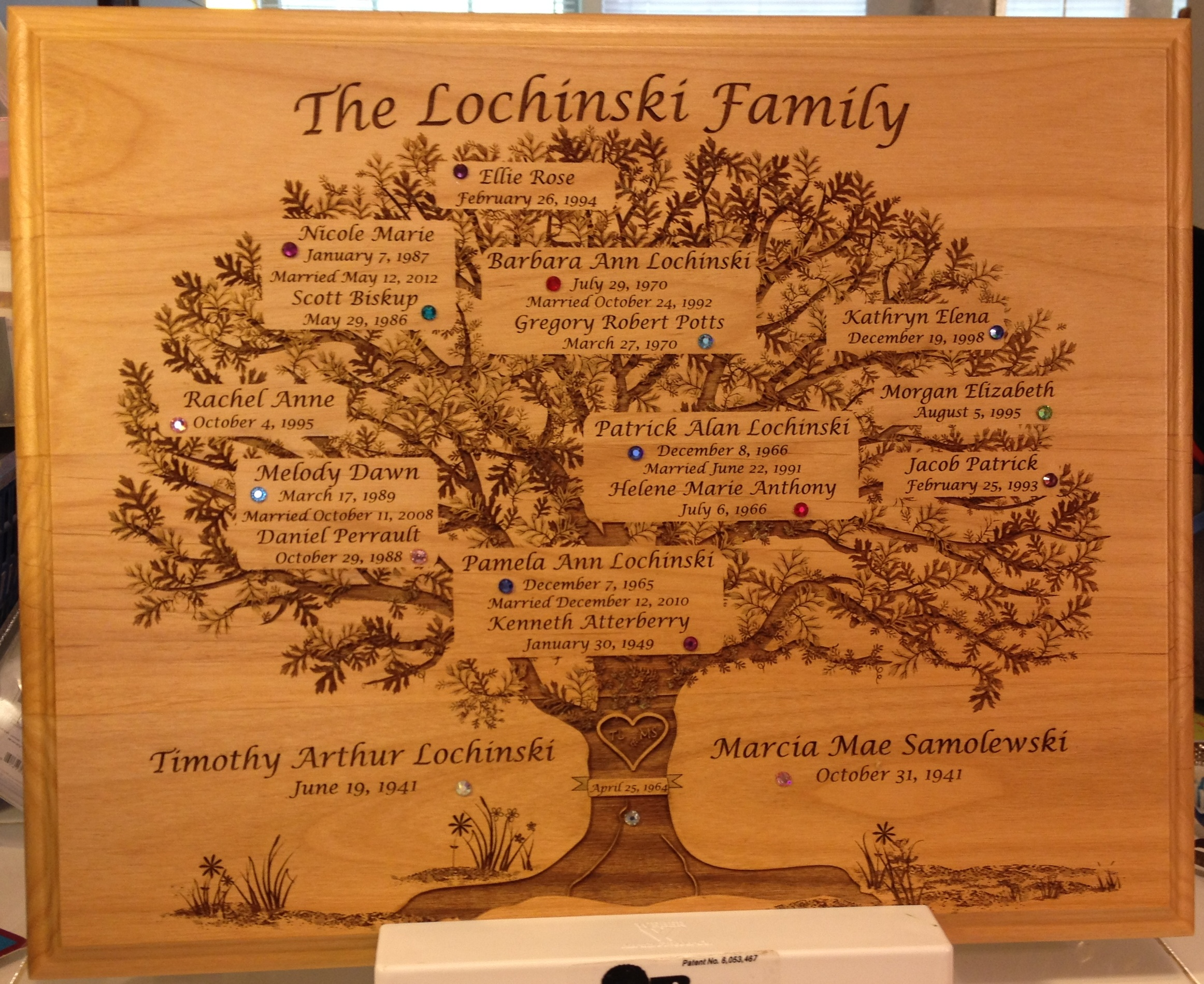 Lochinski Family Tree Plaque